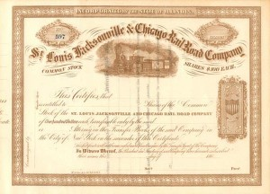 St. Louis Jacksonville & Chicago Railroad Company