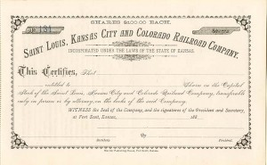 Saint Louis, Kansas City and Colorado Railroad Company