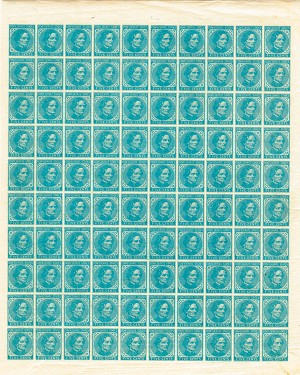 Jefferson Davis Confederate - Uncut Sheet of 100 Stamps - SOLD