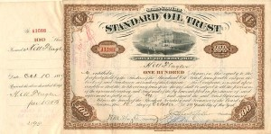 Standard Oil Trust transferred to Geo. N. & George H. Lincoln