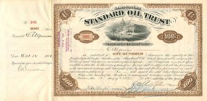 Standard Oil Trust signed by C.A. Griscom and W.H. Beardsley