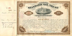 Standard Oil Trust signed twice by F.D. Carley