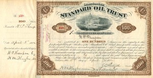 Standard Oil Trust signed twice by H.M. Flagler