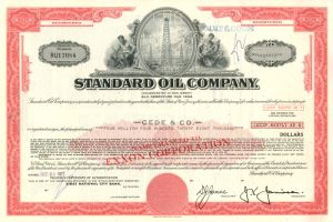 Standard Oil Company - $4,428,000 Bond