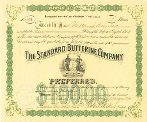 Standard Butterine Co - Stock Certificate