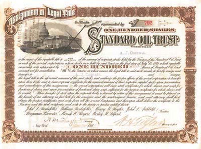 Henry M. Flagler, W. H. Tilford and A. J. Cassatt - Standard Oil Trust