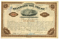 Standard Oil signed by Rockefeller and Flager; Transferred to Rockefeller