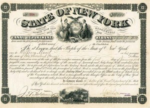 State of New York - Canal Department - Bond