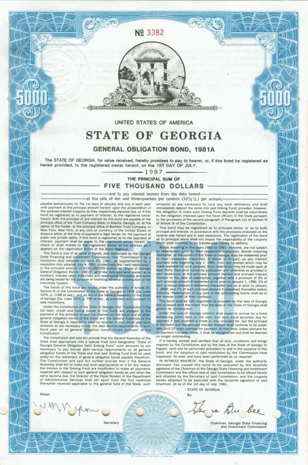 State of Georgia - Bond