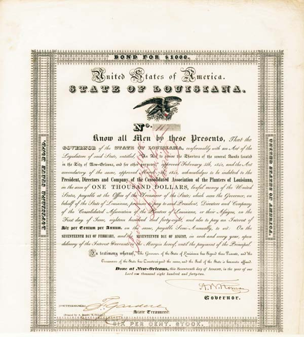 State of Louisiana - Bond
