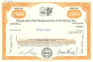 Steak and Ale Restaurants of America, Inc.