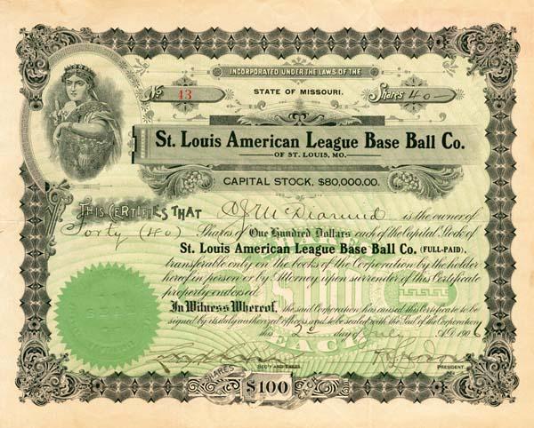 St. Louis American League Base Ball Co.