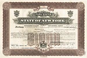 State of New York - Park System - Bond