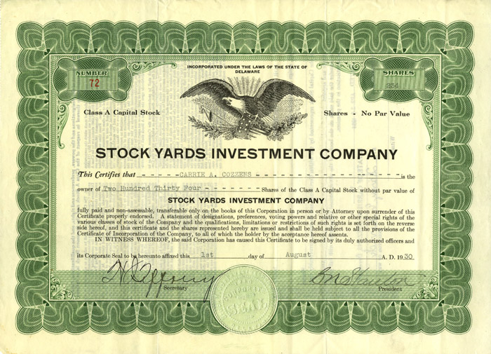 Stock Yards Investment Company