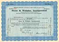 Stone & Webster, Incorporated - SOLD