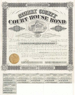 Storey County Court House Bond - SOLD