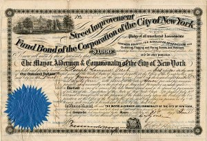 Street Improvement Fund Bond, of the Corporation of the City of New York