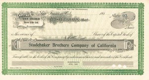 Studebaker Brothers Company of California