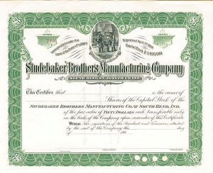 Studebaker Brothers Manufacturing Company of South Bend, Indiana