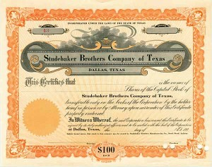 Studebaker Brothers Company of Texas