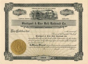 Stuttgart & Rice Belt Railroad Co.