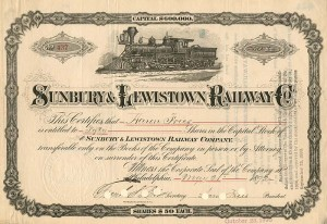 Sunbury & Lewistown Railway Co.