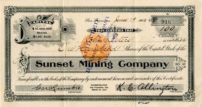 Sunset Minerals, Inc.