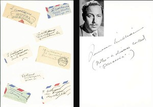 Tennesse Williams' Letters to Donald Windham - SOLD