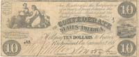 Confederate $10 Note - SOLD