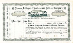 Tacoma, Orting and Southeastern Railroad Company