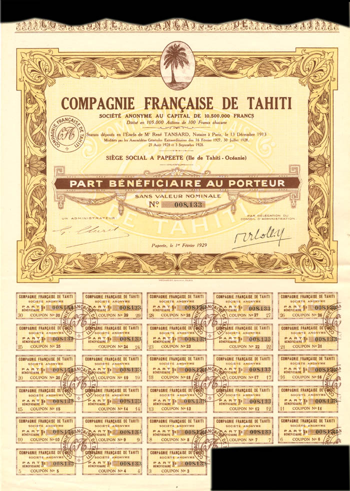 Compagnie Francaise De Tahiti