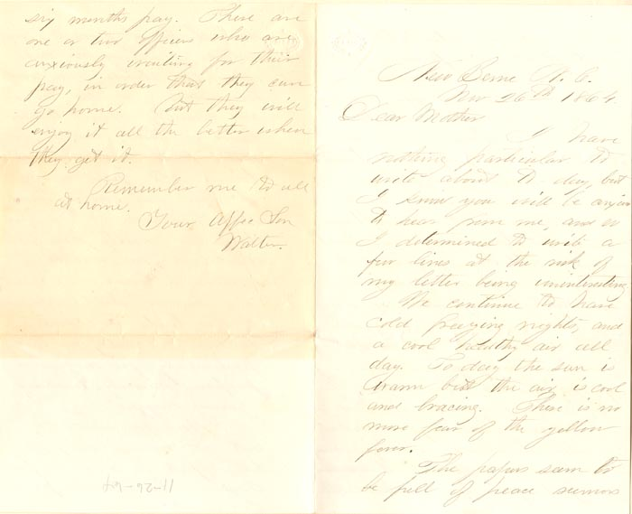 Lincoln and Teaching Blacks Letter - SOLD