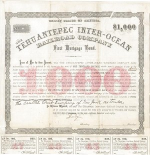 Tehuantepec Inter-Ocean Railroad Company - SOLD