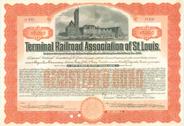 Terminal Railroad Association of St. Louis Company - Bond
