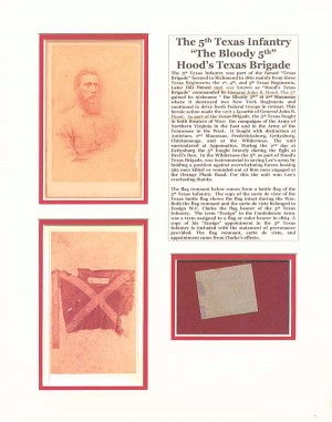 """The Bloody 5th"" Hood's Texas Brigade Relic"