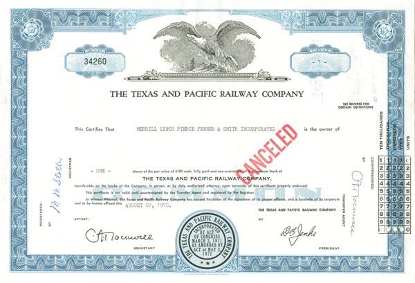 Texas and Pacific Railway Company