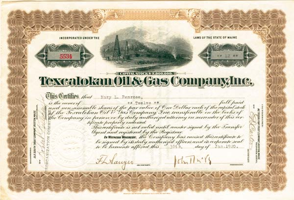 Texcalokan Oil & Gas Company, Inc - SOLD