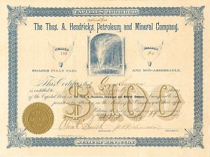 Thos A. Hendricks Natural Gas Petroleum and Mineral Company.