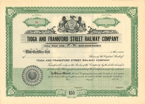 Tioga and Frankford Street Railway Company