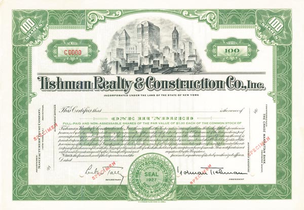 Tishman Realty & Construction Co., Inc. - SOLD