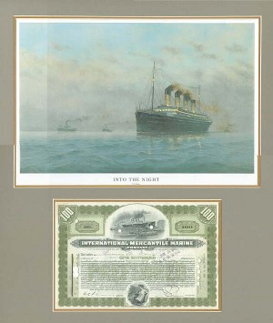 International Mercantile Marine with Titanic Print - SOLD