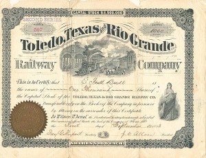 Toledo, Texas and Rio Grande Railway Company - SOLD