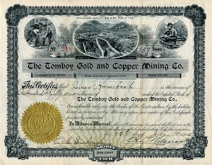Tomboy Gold and Copper Mining Co. - SOLD