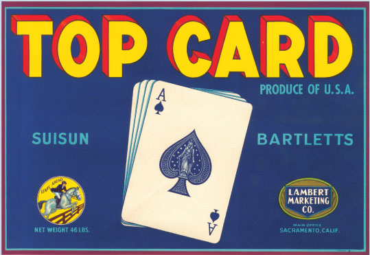Fruit Crate Label - Top Card