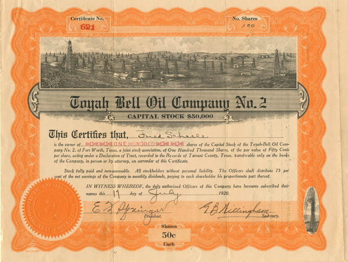 Toyah Bell Oil Company No. 2