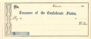 Treasurer of the Confederate States - SOLD