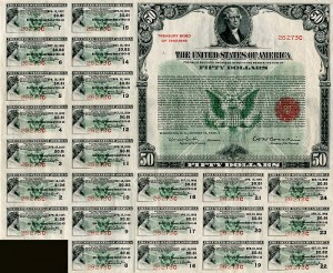 50 Dollar U.S. Treasury Bond - SOLD