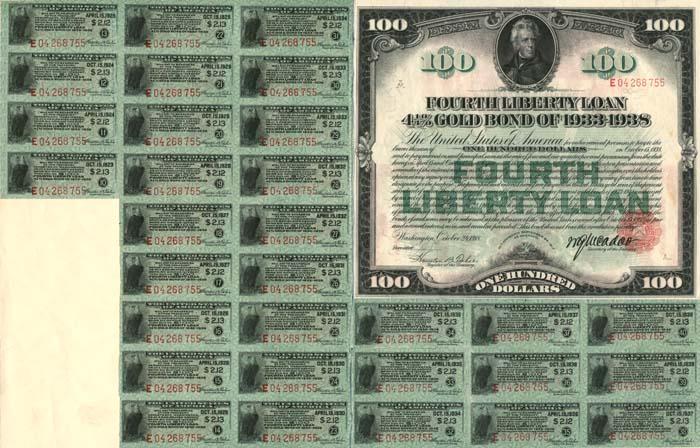 4th Liberty Loan Bond - SOLD