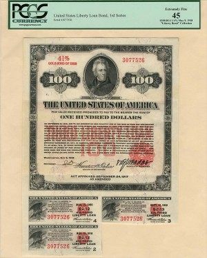$100 3rd Liberty Loan Bond