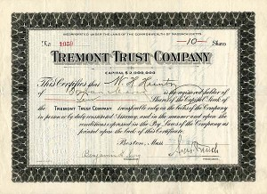 Tremont Trust Company - SOLD